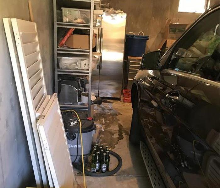 Storm Damage in Garage Before