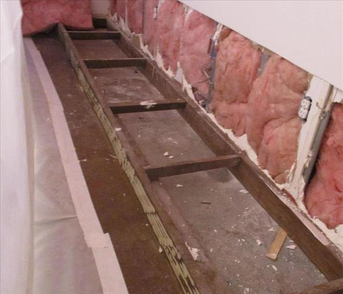 Storm Damage restoration after mold discovery Before