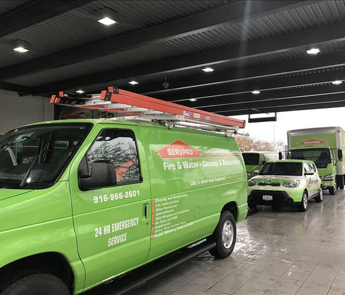 SERVPRO Fleets Arriving to Commercial Fire